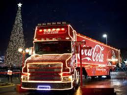 Świąteczna ciężarówka Coca Coli